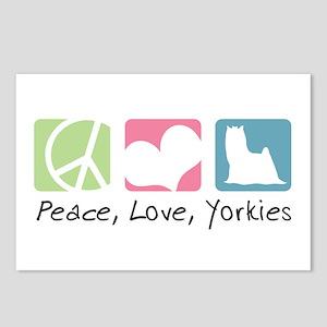 Peace, Love, Yorkies Postcards (Package of 8)