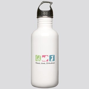 Peace, Love, Chihuahuas Stainless Water Bottle 1.0
