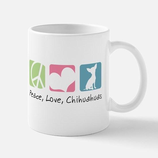 Peace, Love, Chihuahuas Mug