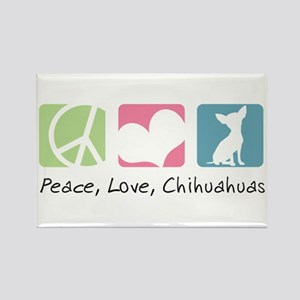 Peace, Love, Chihuahuas Rectangle Magnet
