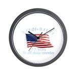 10 Years 9-11 Remember Wall Clock