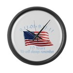 10 Years 9-11 Remember Large Wall Clock