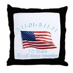 10 Years 9-11 Remember Throw Pillow