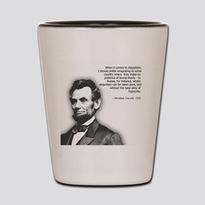Abraham Lincoln Quote Shot Glass