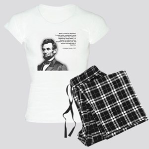 Abraham Lincoln Quote Women's Light Pajamas