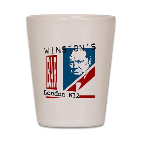 British Churchill Bar Shot Glass