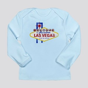 Las Vegas Sign Distressed Long Sleeve Infant T-Shi