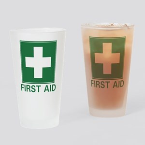 First Aid Drinking Glass