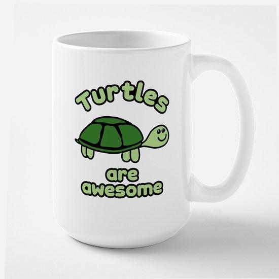 Turtles are Awesome Large Mug