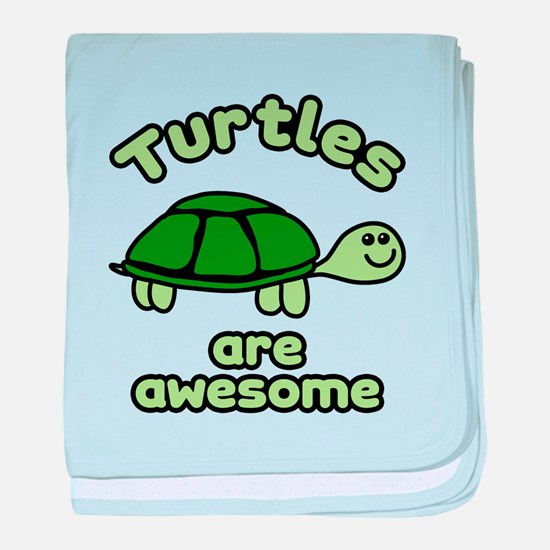 Turtles are Awesome baby blanket