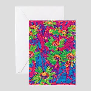 Rainbow Daisy Art Greeting Card