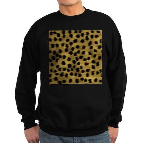 Faux Cheetah Animal Print Sweatshirt (dark)