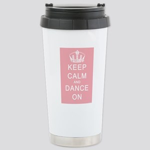 Keep Calm and Dance On (Pink) Stainless Steel Trav