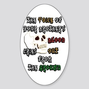Blood Cries Out Sticker (Oval)