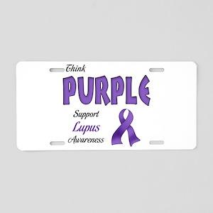 Think PURPLE Aluminum License Plate
