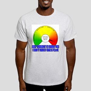 DILLIGAF Meter Ash Grey T-Shirt