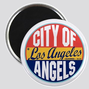 Los Angeles Vintage Label Magnet