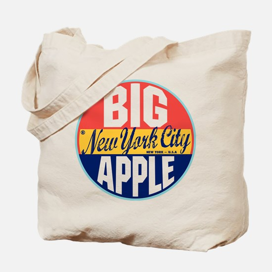 New York Vintage Label Tote Bag