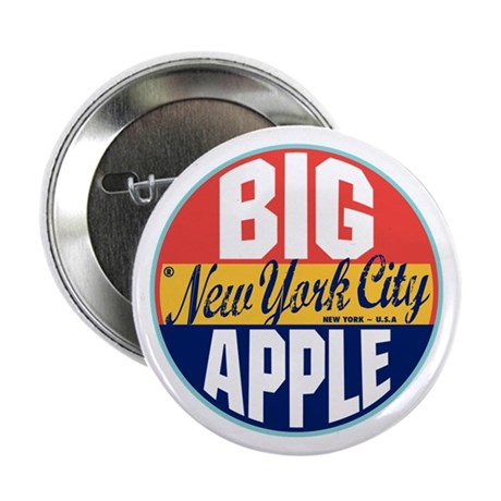 "New York Vintage Label 2.25"" Button"