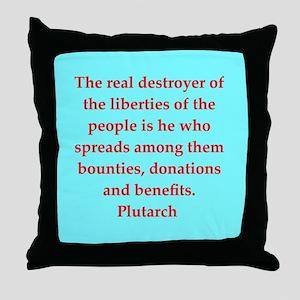 Plutarch's wisdom Throw Pillow