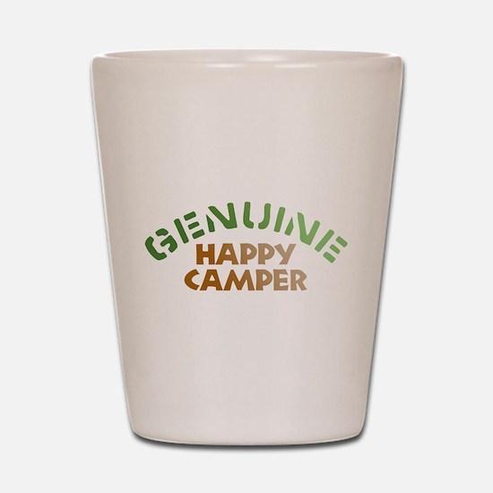 Genuine Happy Camper Shot Glass