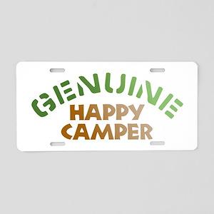 Genuine Happy Camper Aluminum License Plate