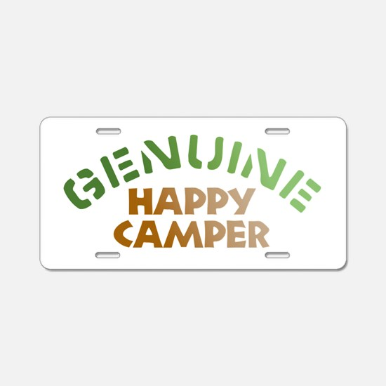 Genuine Happy Camper Aluminum License Plate