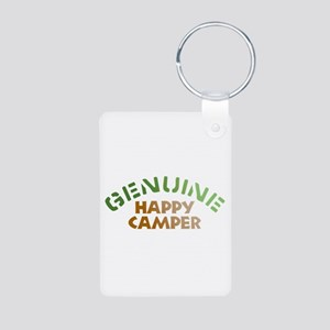 Genuine Happy Camper Aluminum Photo Keychain