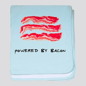 Powered By Bacon baby blanket