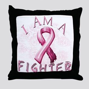I Am A Fighter Throw Pillow