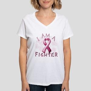 I Am A Fighter Women's V-Neck T-Shirt