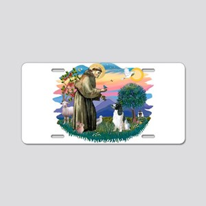 St Francis #2/ Eng Spring Aluminum License Plate