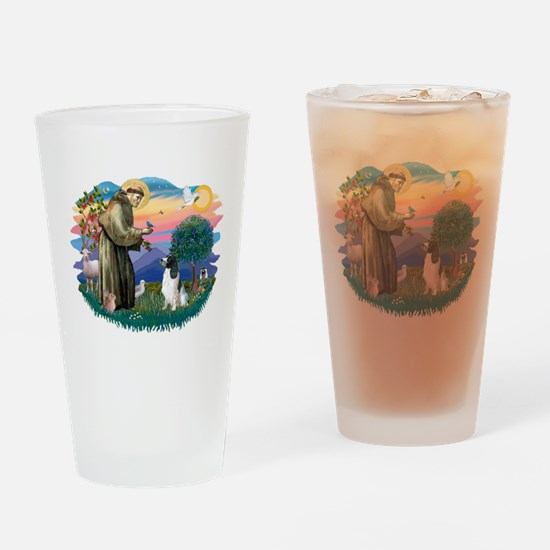 St Francis #2/ Eng Spring Drinking Glass
