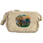 St.Francis #2/ Fr Bulldog (br Messenger Bag