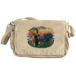 St.Francis #2/ Great Dane (bl Messenger Bag