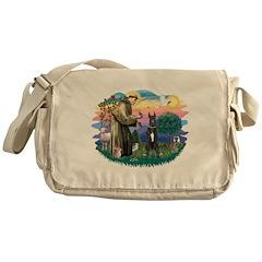 St.Fran. #2/ Great Dane (blk) Messenger Bag