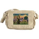 Saint Francis' Great Dane Messenger Bag