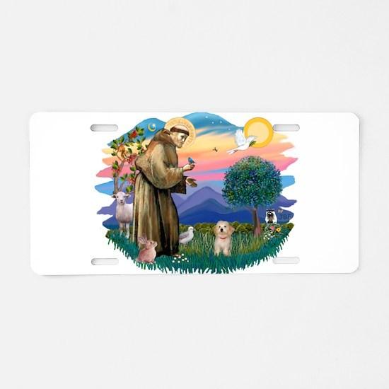 St.Fran. #2/ Havanese pup Aluminum License Plate