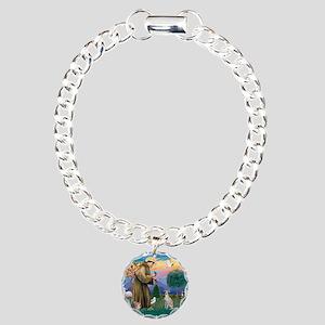 St.Francis #2/ Ital Grey (f) Charm Bracelet, One C