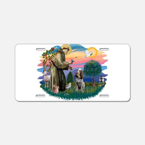 St Francis #2/ Spinone Aluminum License Plate