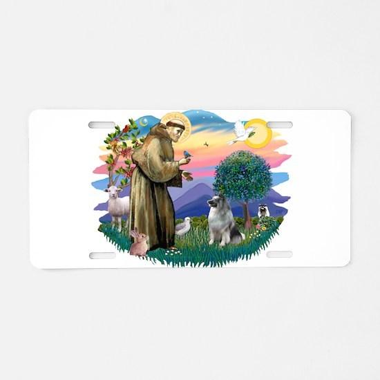 St Francis #2 / Keeshond Aluminum License Plate