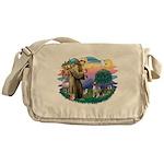 St Francis #2 / Keeshond Messenger Bag