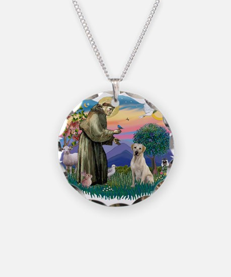 St.Francis #2/ Yellow Lab Necklace