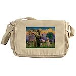 St Francis/Yellow Lab Messenger Bag