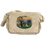 St.Francis #2 / Lhasa Apso (R Messenger Bag