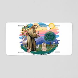 St.Francis #2/ Lhasa Apso (# Aluminum License Plat