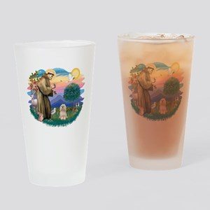 St.Francis #2/ Lhasa Apso (# Drinking Glass