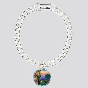 St.Francis #2/ Manchester T Charm Bracelet, One Ch