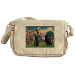 Saint Francis' Newfie Messenger Bag