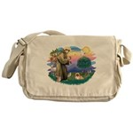 St.Francis #2 / Pekingese #1 Messenger Bag